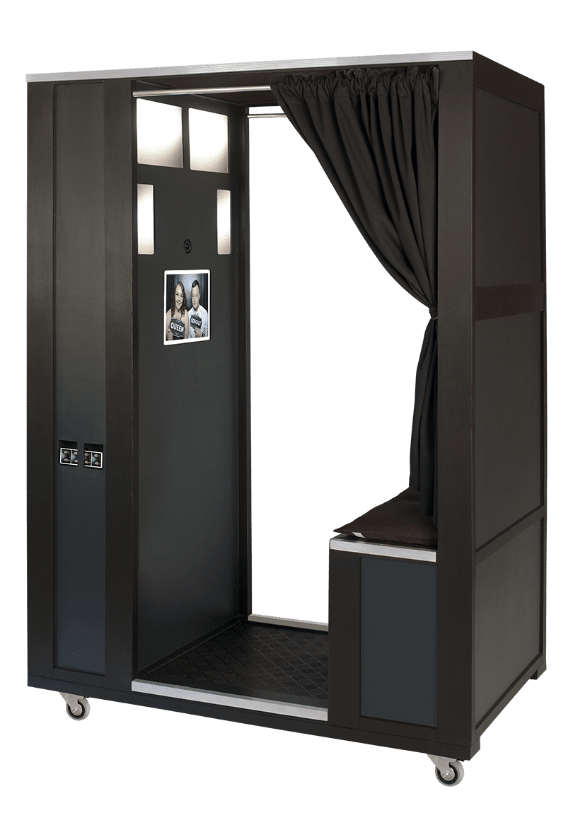 our traditional enclosed style photo booth hire